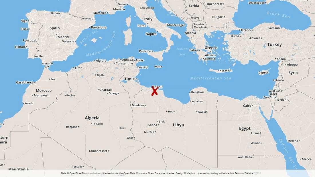 Olyckan inträffade utanför kuststaden al-Khums, öster om huvudstaden Tripoli.