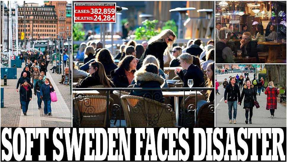 Daily Mail chockas av Sveriges coronastrategi.