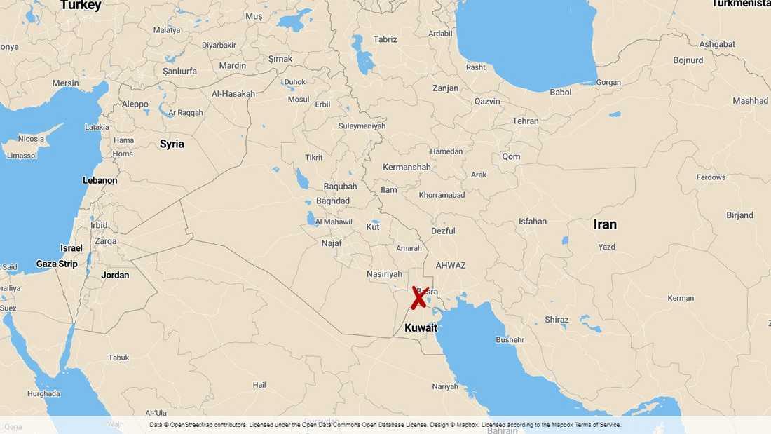 Raketer har slagit ned nära ett oljeindustriområde norr om staden Basra.