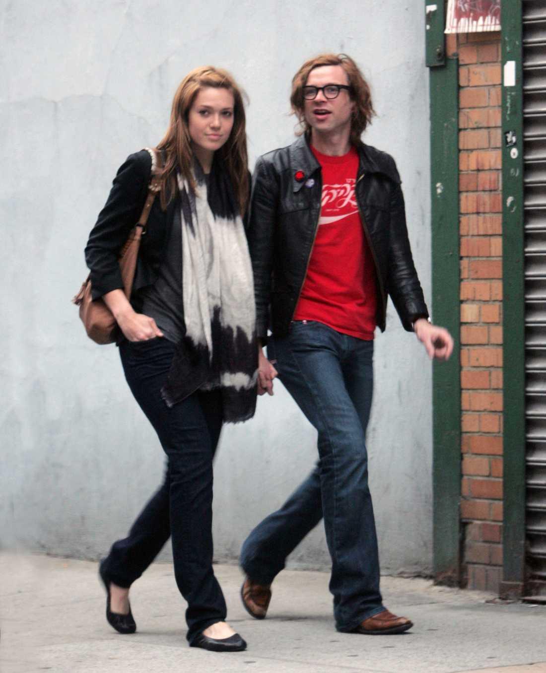 Mandy Moore och Ryan Adams i New York