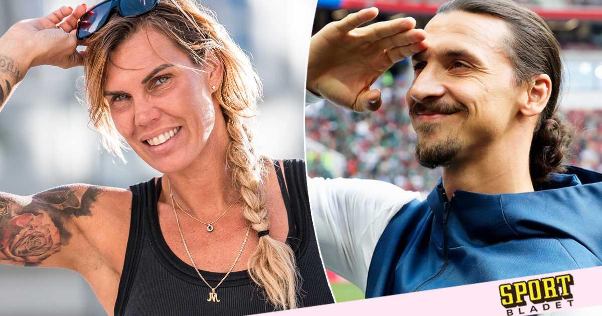 Mikaela Lauréns stöd till Zlatan