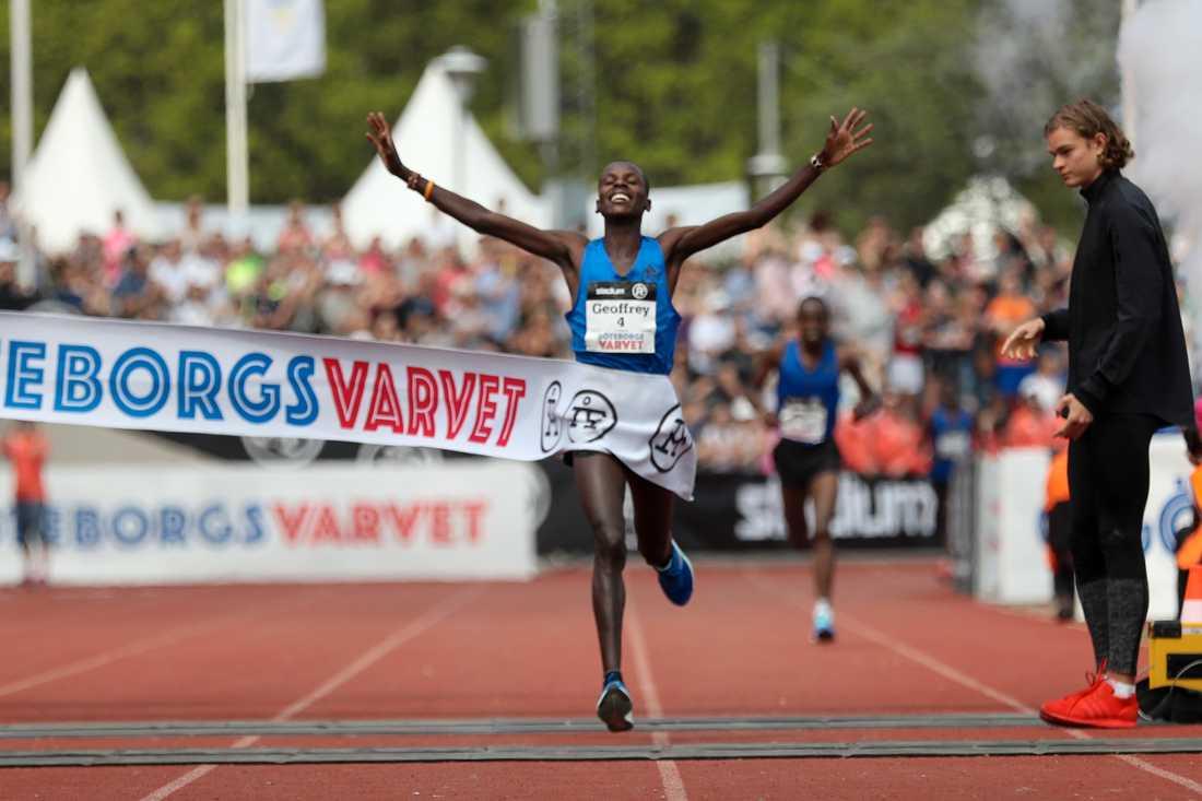 Geoffrey Yegon, Kenya, vann årets Göteborgsvarv på tiden 1:00:19.