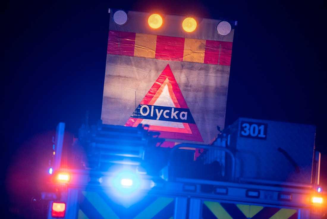 Två personbilar frontalkrockade i västra Blekinge på onsdagskvällen. Arkivbild.