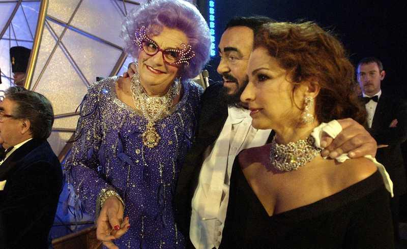 Tillsammans med Luciano Pavarotti och Gloria Estefan.