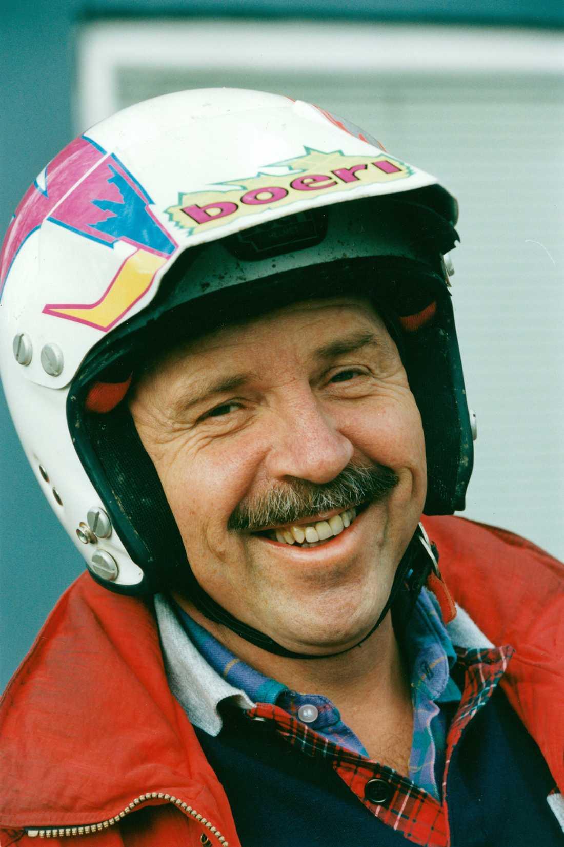 """Janne """"Loffe"""" Carlsson """" kär motorcykel 1995."""
