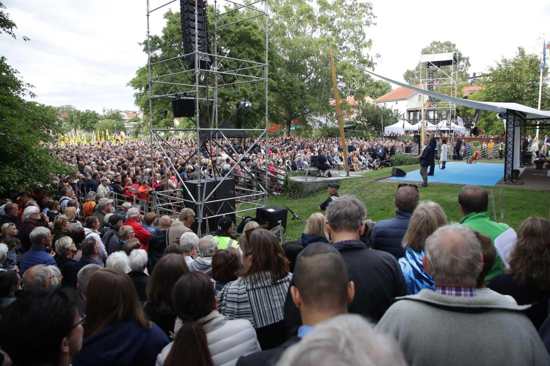 Det blir ingen politikervecka i Visby i år. Arkivbild.