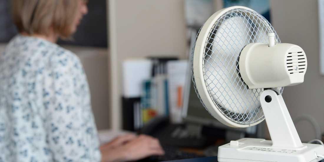 Varmt på kontoret. Arkivbild.