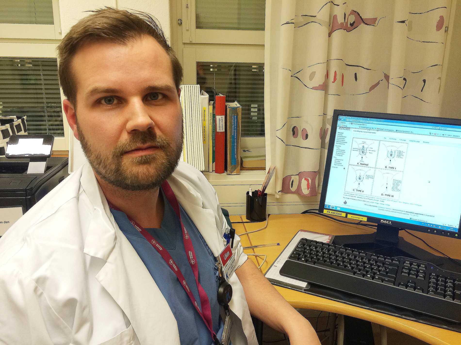 Hannes Sigurjónsson, plastikkirurg på Karolinska sjukhuset.