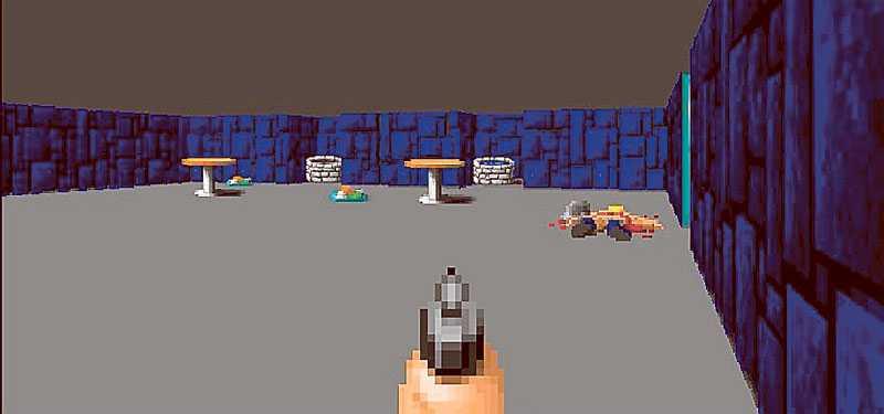 """Pang, du är död. """"Wolfenstein 3D"""" känns som en mild pojkrumsfantasi men skapar ändå kontroverser."""