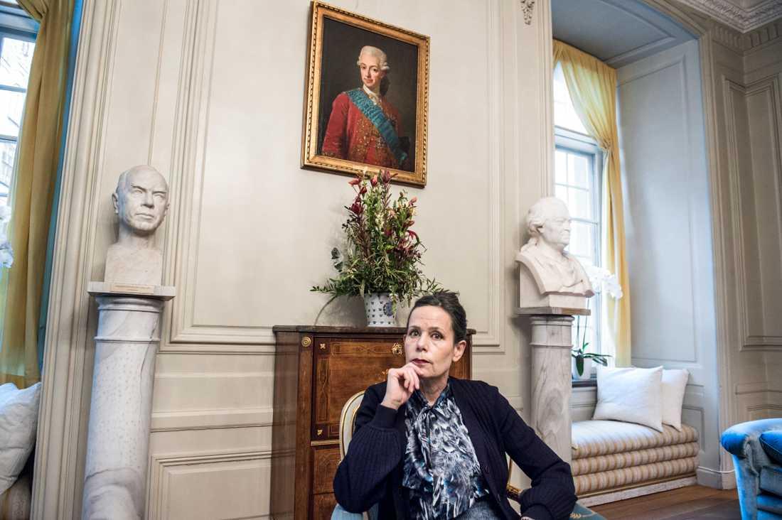 Sara Danius valdes in i Svenska Akademien 2013. Hon var ständig sekreterare från 2015 till 2018 då hon lämnade Akademien.