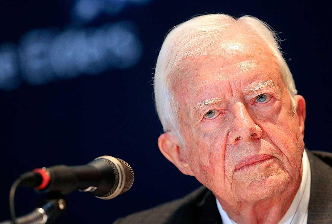 Jimmy Carter, 91, var USA:s president i slutet av 1970-talet. Han har nyligen behandlats med den nya medicinen efter att ha drabbats av hudcancer.