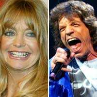 """Typiska 40-talister? Goldie Hawn och Mick Jagger tillhör båda """"jätteproppen Orvar""""."""