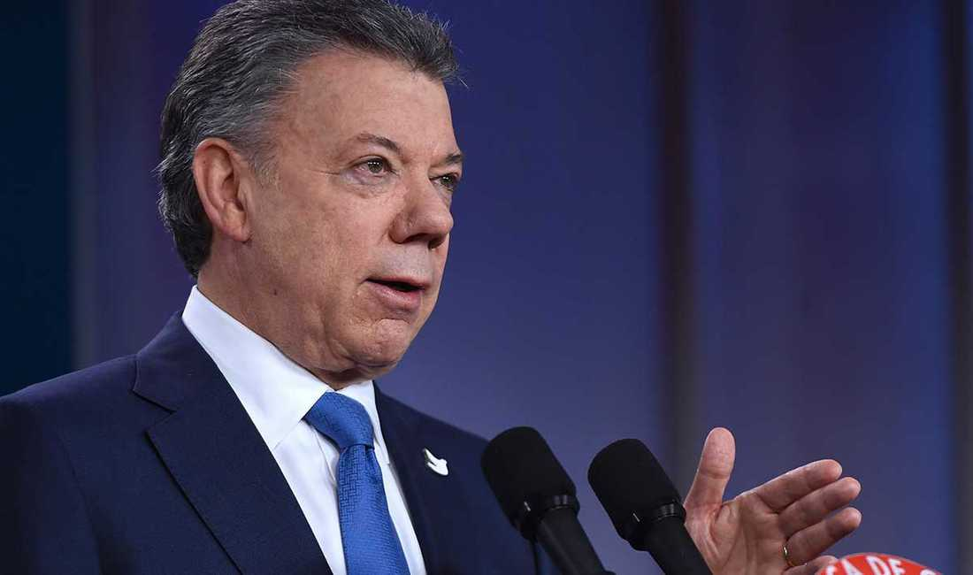 Juan Manuel Santos, Colombias president och fredspristagare.