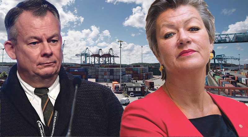 Strejkrätten kan vi inte ge upp bara för att lösa en organisationskonflikt i Göteborgs hamn, skriver Göran Arrius efter arbetsmarknadsminister Ylva Johanssons förslag på lagändringar. Bilden är ett montage.