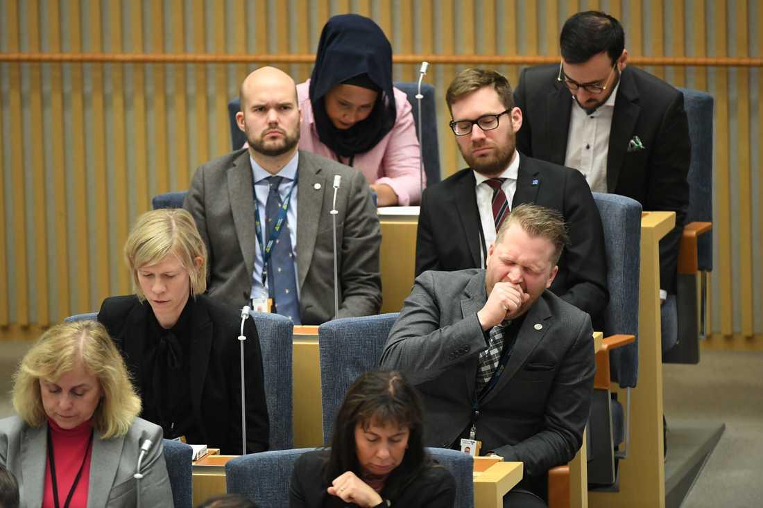 Stefan Löfven röstas fram som statsminister fyra månader efter valet.