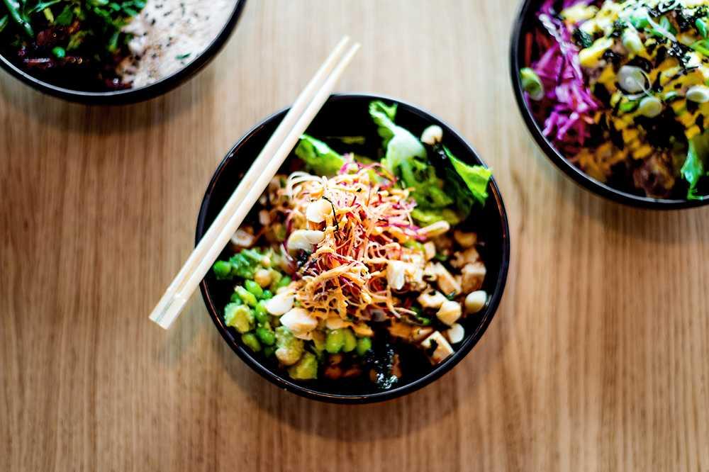 Heavenly tofu poké bowl