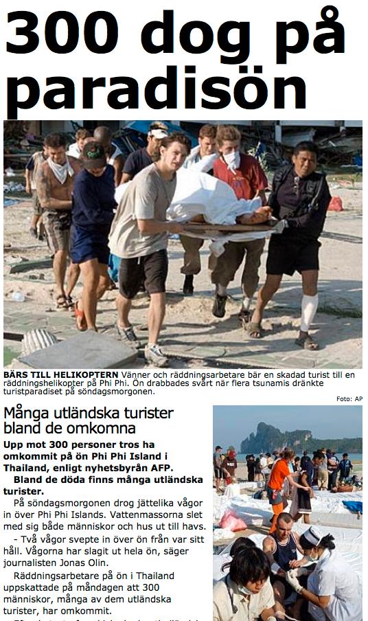 Aftonbladet.se 27 december 2004.