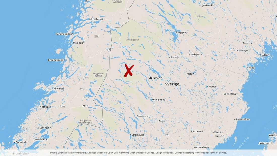 Kittelfjäll i Vilhelmina kommun.