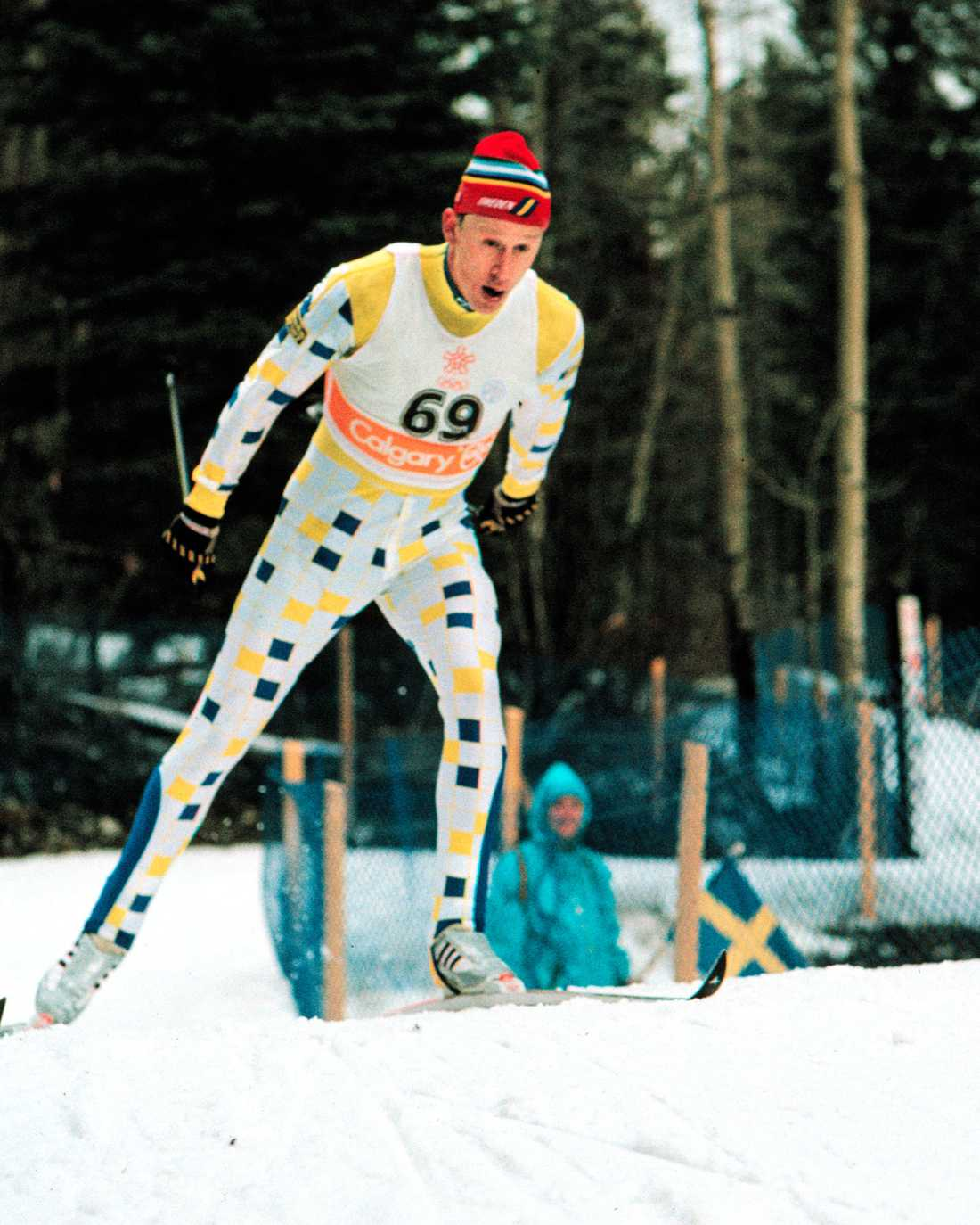 Gunde Svan i OS i Calgary 1988.