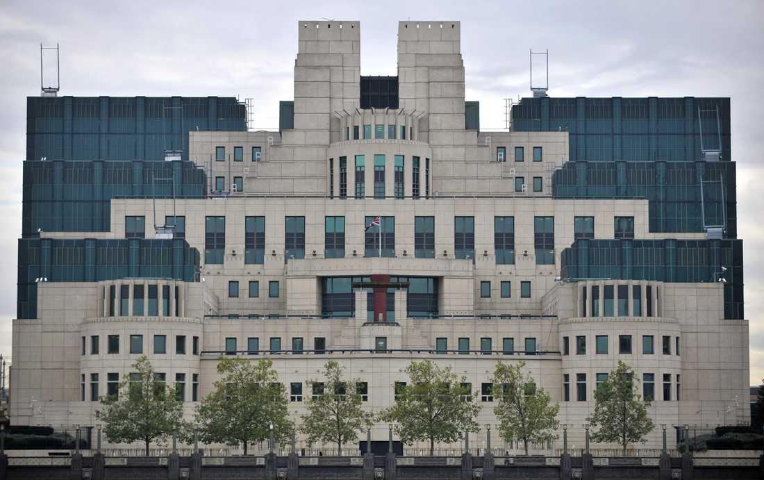 Brittiska underrättelsetjänsten MI-6:s högkvarter i London.