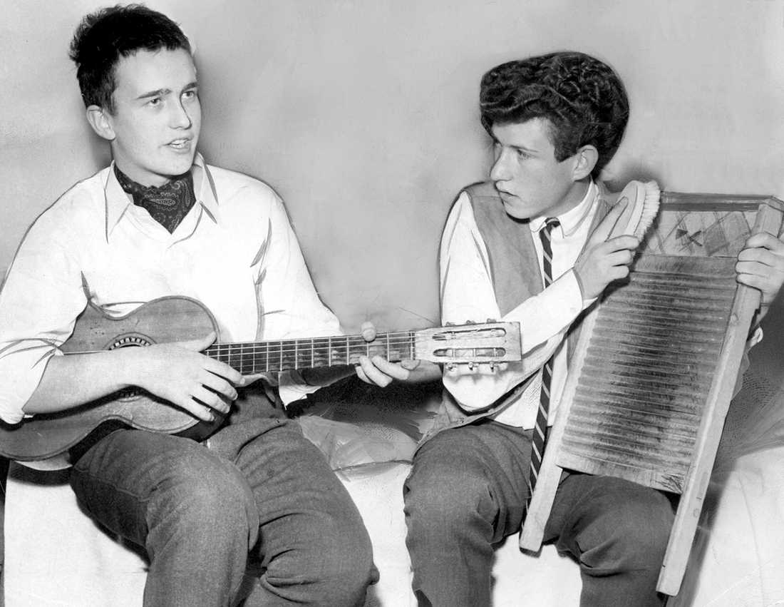 Robban Broberg och Lars-Oscar Härdelin 1957.