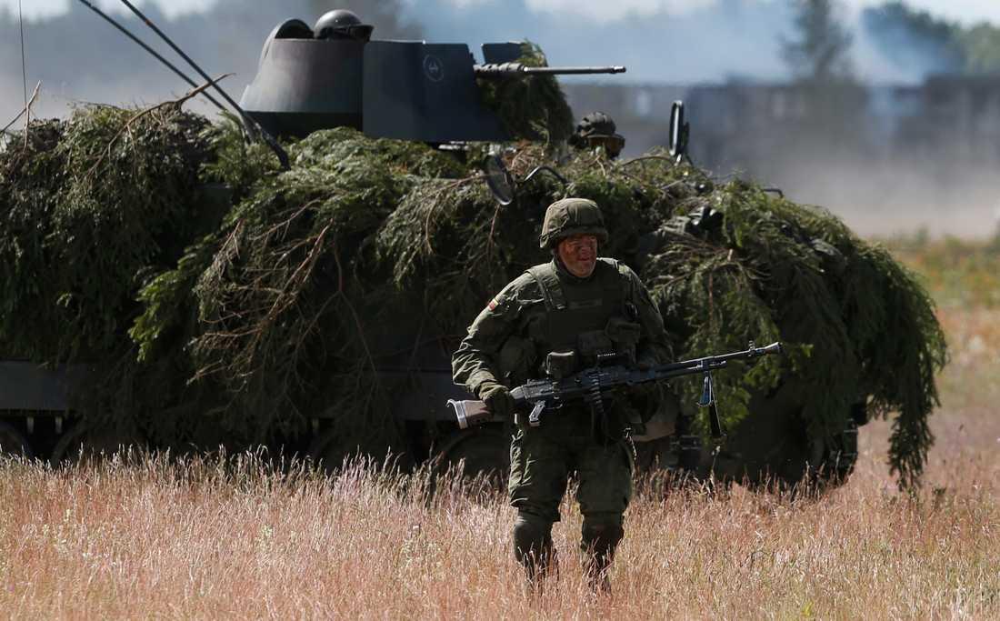 På bilden syns en soldat i samband med en Natoövning i Lettland. Bilden hänger inte ihop med artikeln.