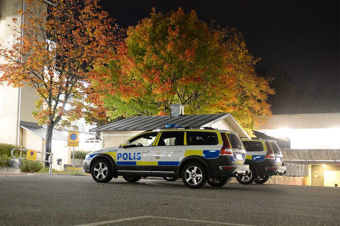 En av skjutningarna ägde rum utanför ett gym i Västerås, i oktober 2017.