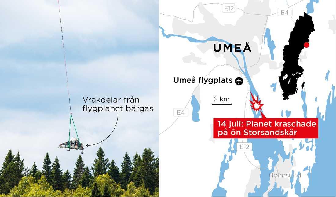 Olyckan inträffade klockan 14.07 den 14 juli i år.