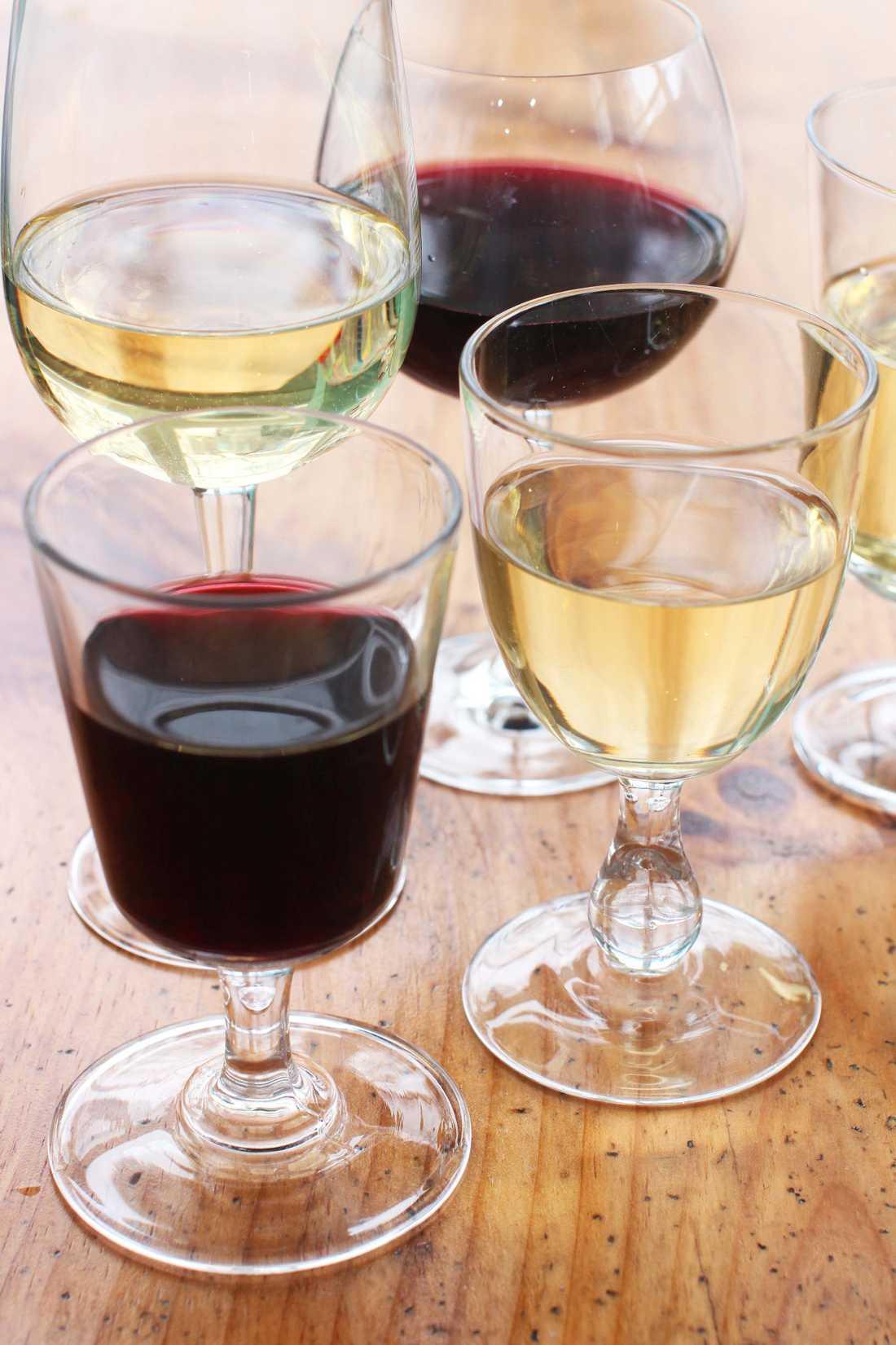 Genrebild på vin.