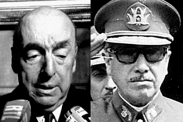 Poeten Pablo Neruda och kuppgeneralen Pinochet.