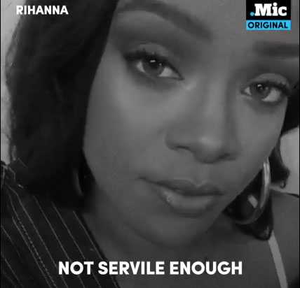 Rihanna i filmen som protesterar mot polisvåldet.