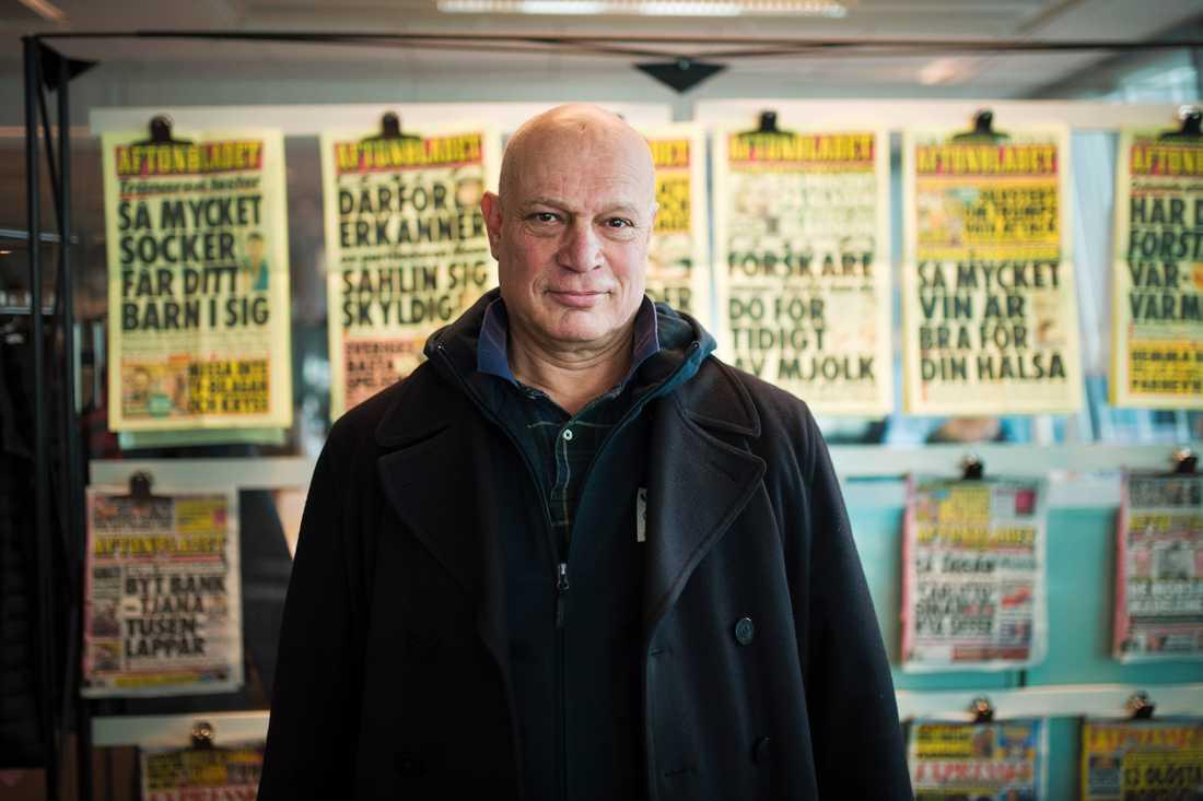 Robert Aschberg på Aftonbladets redaktion