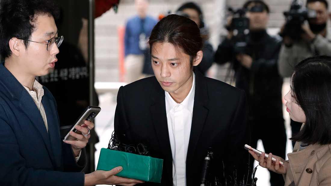 Jung Joon-young anländer till rättegången i Sydkoreas huvudstad Seoul.