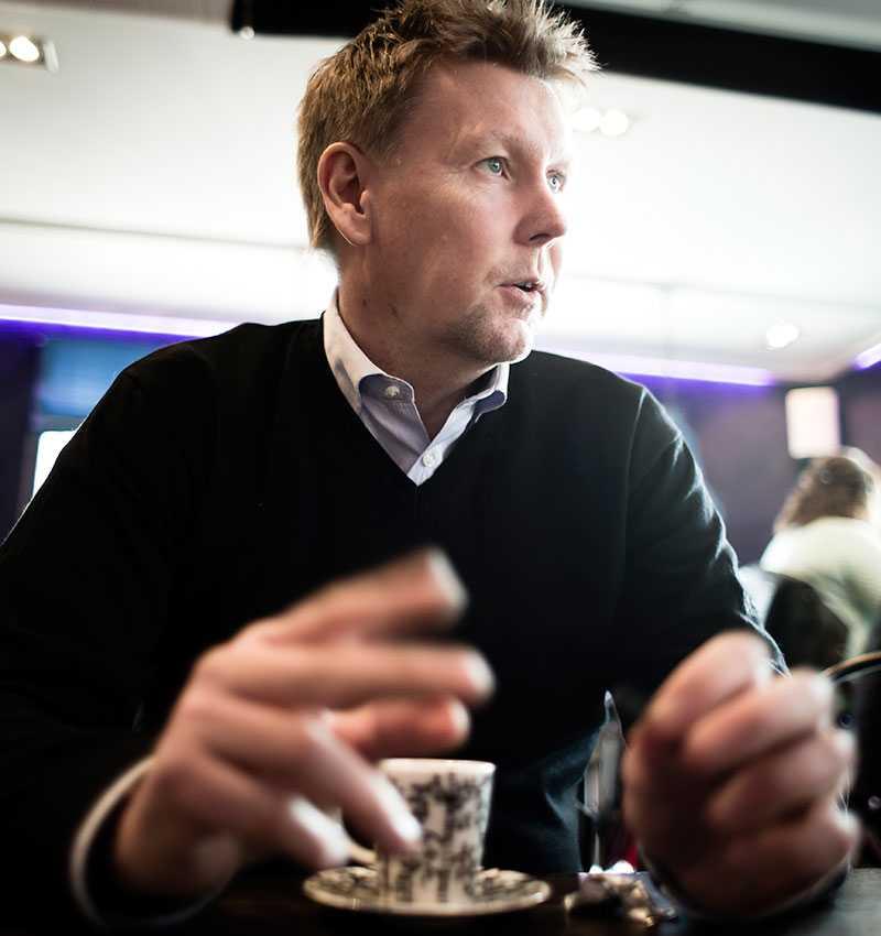 Tränare Peter Wettergren.