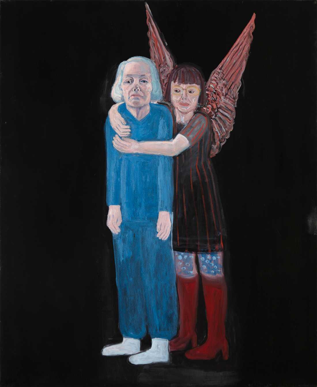 """""""Skyddsängeln"""", självporträtt av Lena Cronqvist från 2010. Pressbild."""