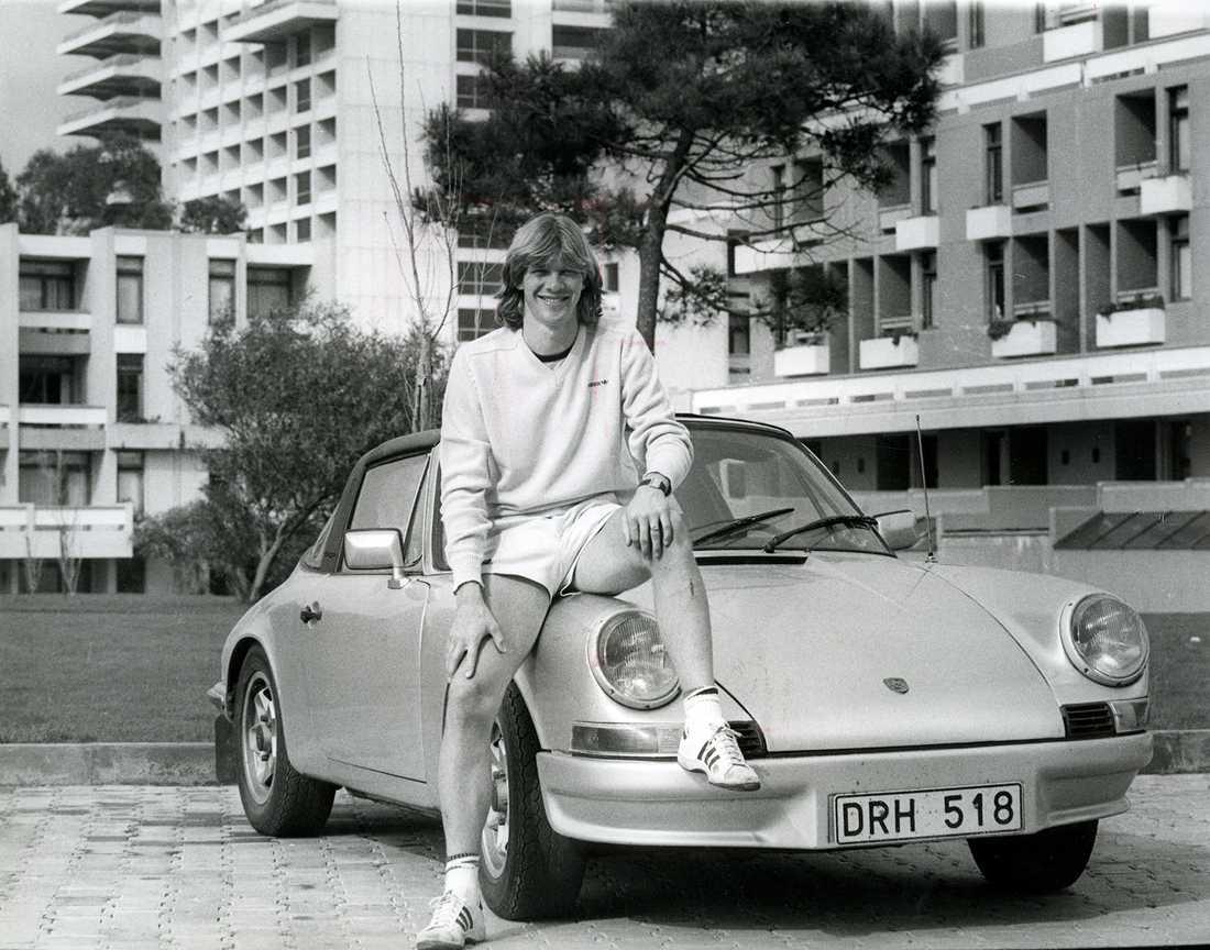 Glenn Strömberg med sin pärla när det begav sig 1983.