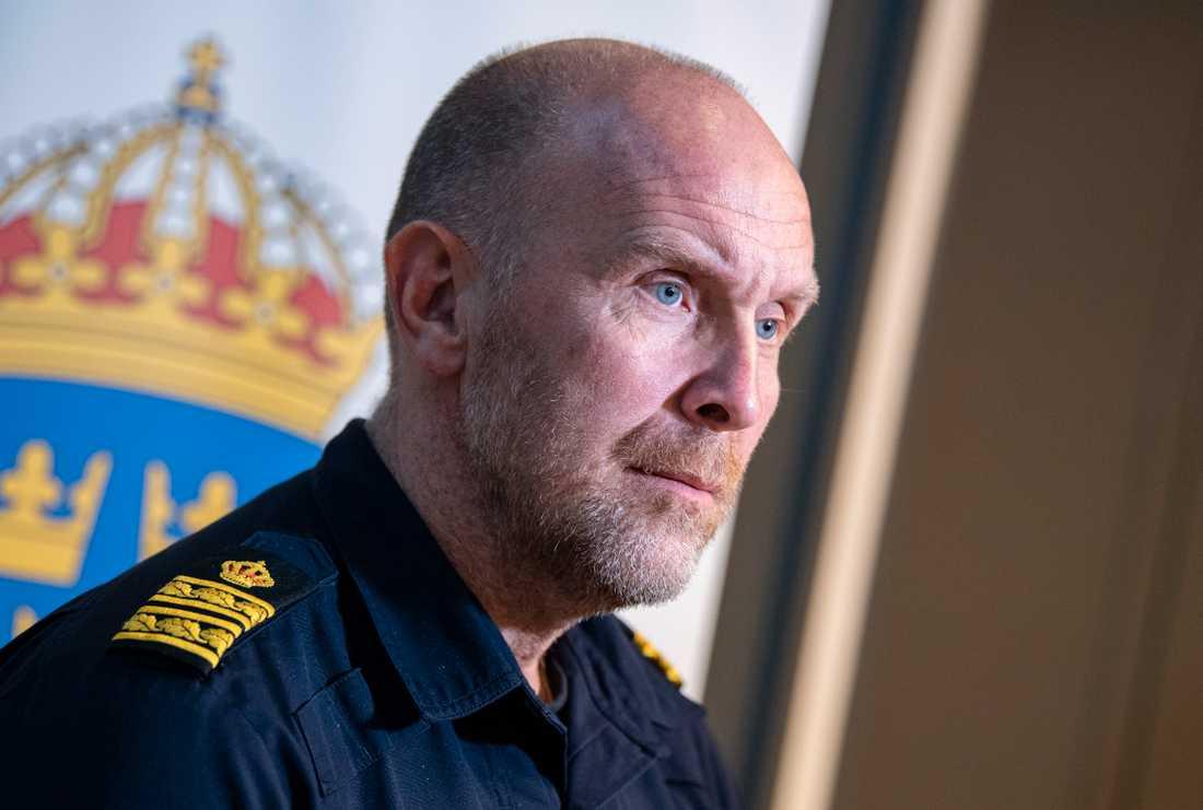Stefan Hector, nationell kommenderingschef och ansvarig för polisens nationella särskilda händelse Operation rimfrost. Arkivbild.
