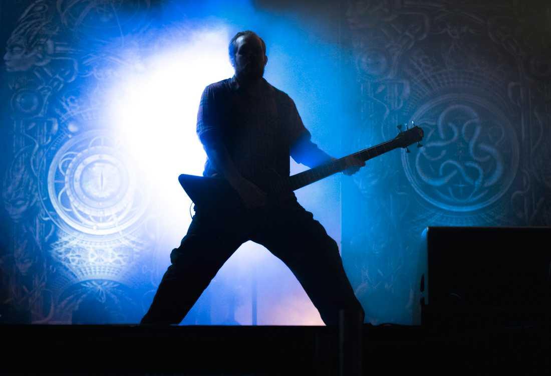 Meshuggah var ett av de band som skulle ha spelat på Gefle Metal. Här från en tidigare spelning på Sweden rock. Arkivbild.
