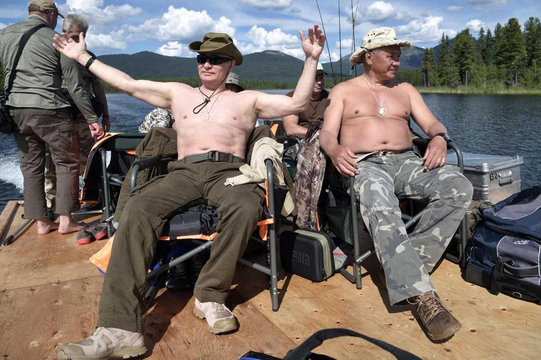 Vladimir Putin på fisketur