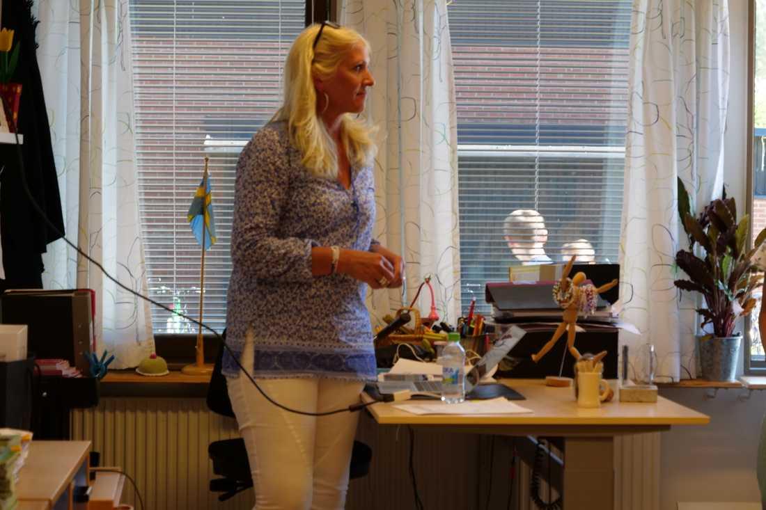 Klassens lärare Ulrika Widén