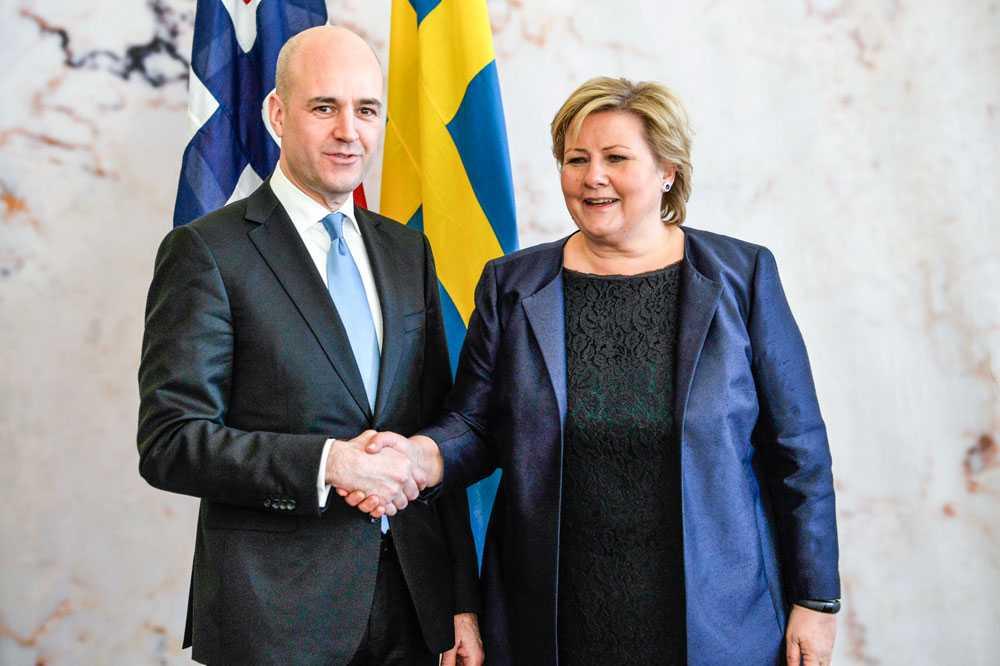 Fredrik Reinfeldt och Erna Solberg.