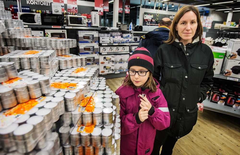 Karima Naimj, 45 och dottern Filippa Naimj, 8.