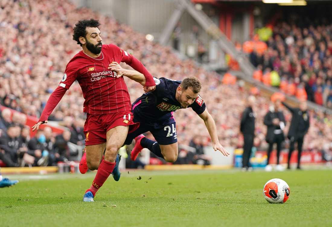 Liverpool-stjärnan Mohamed Salah kvitterade till 1–1 hemma mot Bournemouth.