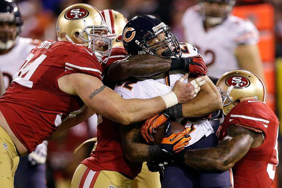 San Franciscos försvar Kaepernick får ursäkta, men det är i försvaret det börjar och slutar för 49ers. Lyckas namn som Justin Smith, Patrick Willis, Aldon Smith, NaVorro Bowman och Ahmad Brooks, stoppa Baltimore är mer än hälften vunnet.