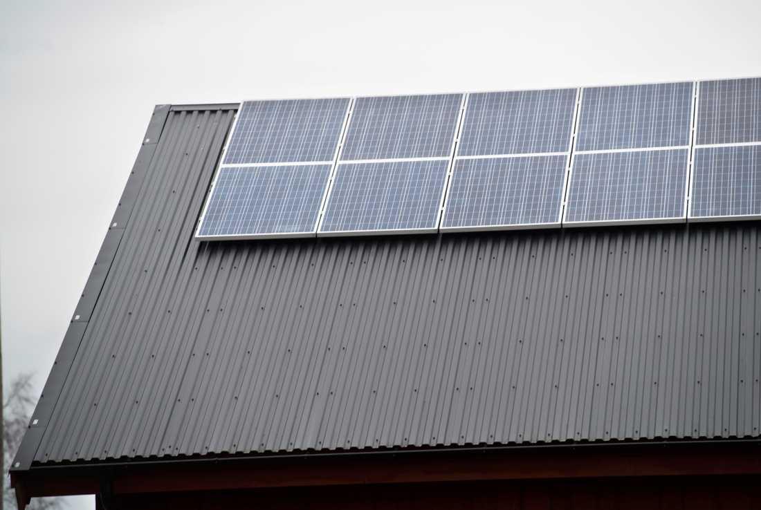 Ny teknik, som solceller, kan innebära en ökad brandrisk i de svenska hemmen. Det är viktigt att tänka på brandsäkerheten när man installerar ny teknik i hemmen, enligt Brandskyddsföreningen. Arkivbild.