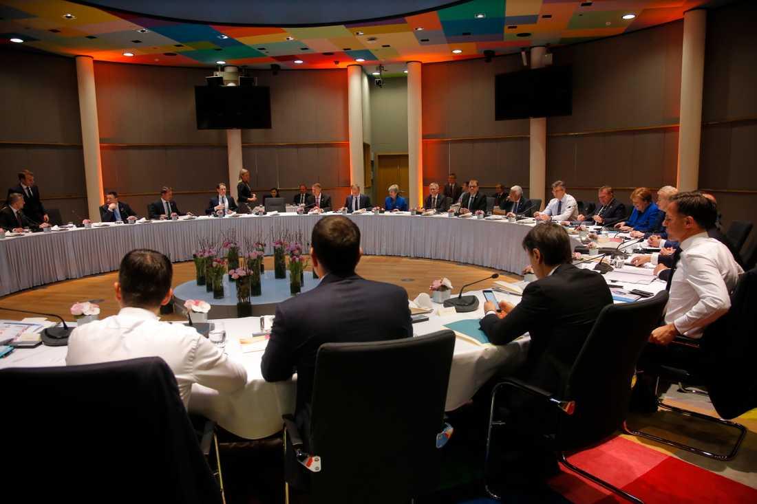 EU-ledarna under toppmötet.