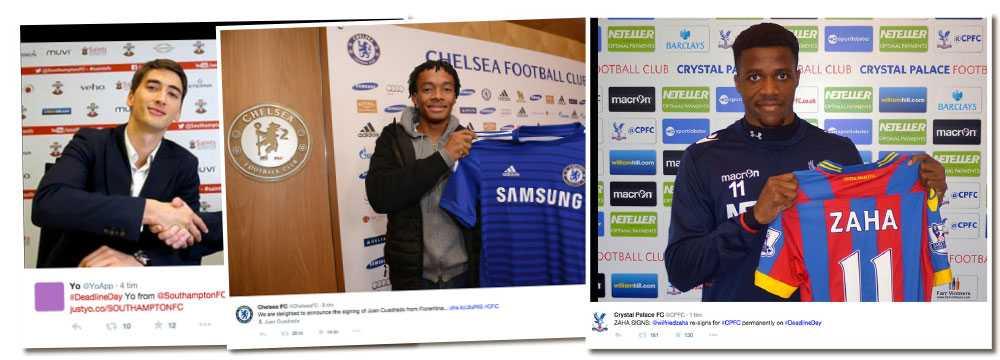 Djuricic till Southampton, Cuadrado till Chelsea, och Zaha till Crystal Palace några av övergångarna i England.