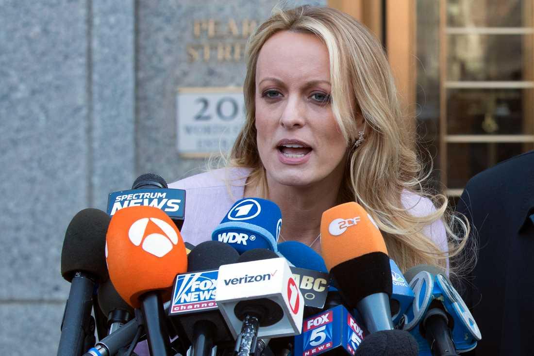Porrproducenten Stephanie Clifford, även känd som Stormy Daniels. Arkivbild.