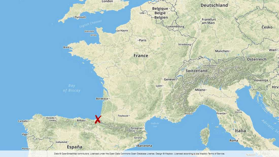Bayonne i sydvästra Frankrike.