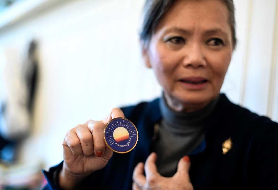 Den kambodjanska oppositionella exilpolitikern Mo Sochua har frihetsberövats i Malaysia. Arkivbild